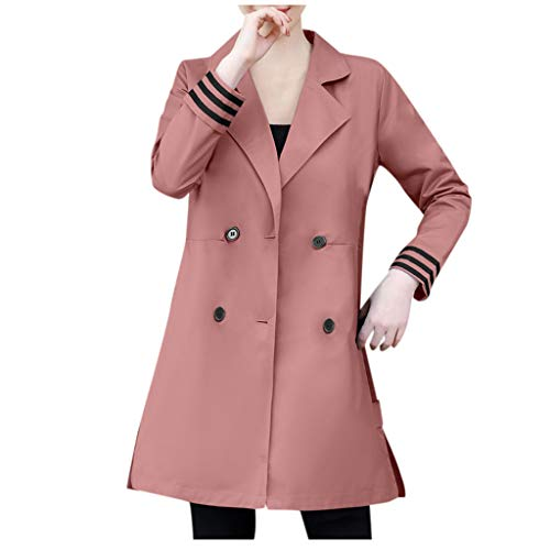 Damen Mantel Elegant Winter Übergroße Revers Kaschmir Wollmischung Gürtel Trenchcoat Outwear Jacke