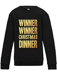Direct 23 Ltd Winner Winner Christmas Dinner Kids Sweatshirt
