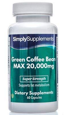Café Vert MAX 20000mg   60 Gélules   Haute Contentration   Contient maintenant du zinc, du chrome,de la vitamine B3 et de la vitamine B12   Fabriqué au Royaume-Uni