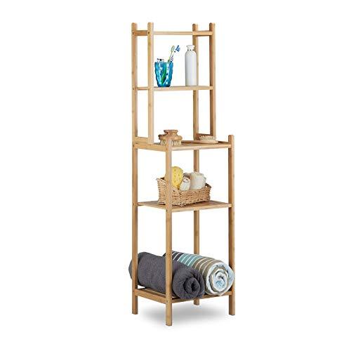Generic * Bathroom STO Regale, Küche oo Badewanne Einheit mit Bambus Badewanne Bambus Badezimmer Ablage Nit mit freistehendem Gewürfregal, Holz, freistehend