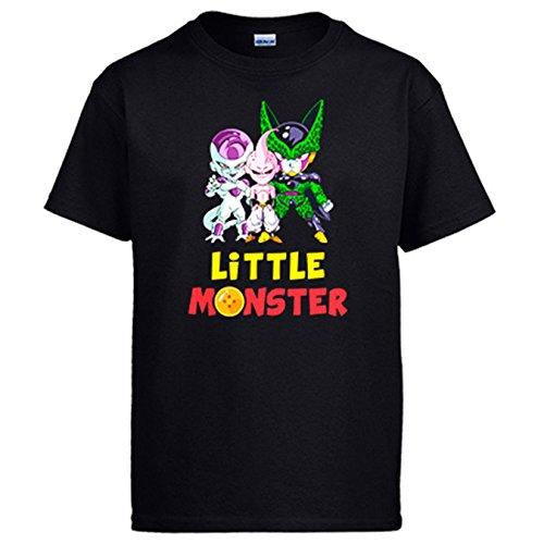 Camiseta Dragon Ball Litttle Monster Freezer Buu Cell - Negro, S