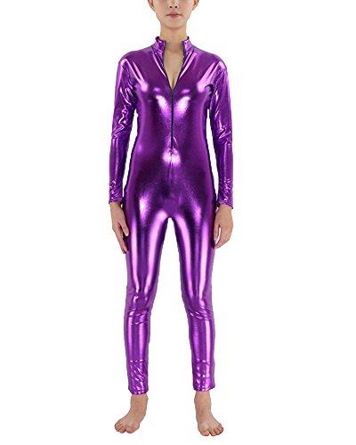 Second Skin Kostüm Ganzkörperanzug Halloween Kostüme Violett XXL (Violett Halloween-kostüm)