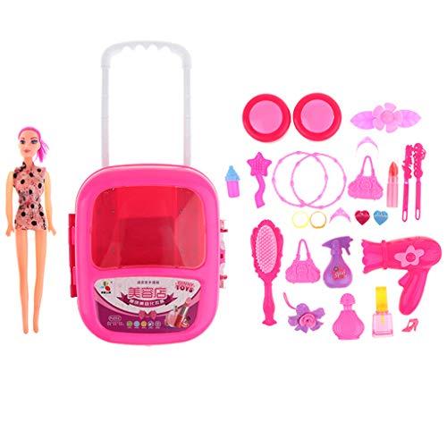 Unbekannt Homyl Plastik Kinderschmink Set Frisierkoffer Schminkset Prinzessin Mädchen Kosmetik...