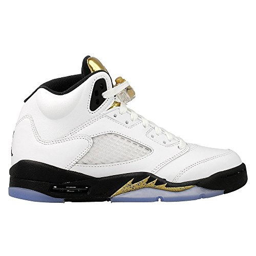 Nike Jungen Air Jordan 5 Retro BG Basketballschuhe, Blanco (Blanco (White/Black-Mtlc Gold Coin)), 37.5 EU (Air Jordan Retro 5 Kinder)