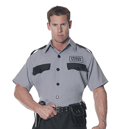 Men's Plus Size Prison Guard Shirt 2X-Large (Prison Guard Kostüm)