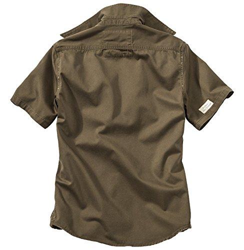 Surplus Herren Hemd RAW Vintage Shirt Halbarm 06-3590 Braun