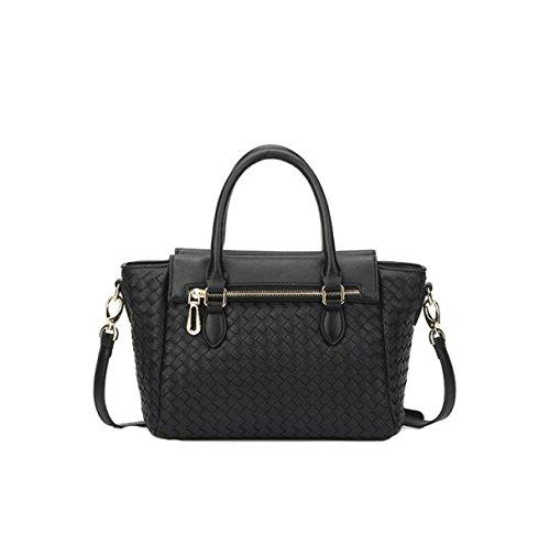 Art Und Weise Einfache Handgewebte Damen Beutel Schulterbeutel Diagonale Pakethandtaschenflügelbeutel Black