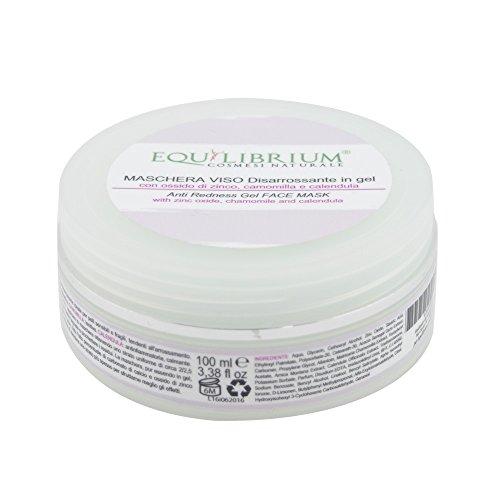 EQUILIBRIUM - COSMESI NATURALE Maschera viso DISARROSSANTE in gel 100 ml con Ossido di Zinco, Camomilla e Calendula