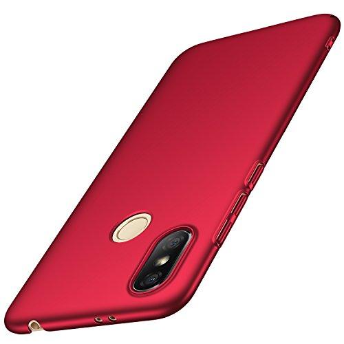 anccer Funda Xiaomi Redmi S2 [Serie Colorida] [Ultra-Delgado] [Ligera] Anti-rasguños Estuche para Carcasa Xiaomi Redmi S2 (Rojo Liso)