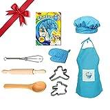 Samber 8 Stück Pädagogisches Lernen Spielzeug Kunststoff Küchenspielzeug Kinder Frühe Entwicklung Weihnachtsgeschenk Rollenspiele Kochgeschirr Backen-Werkzeugschürze Spielhaus