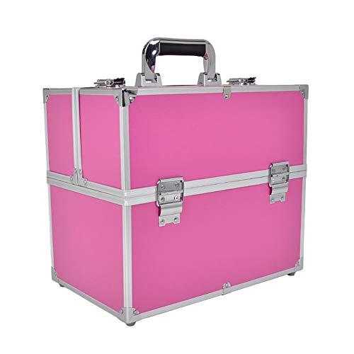 Trousse à maquillage pour bagage de voyage Caisse cosmétique de grande capacité de grande taille pour le maquillage de beauté pour le voyage pour des genres de stockage de petites choses avec 6 platea