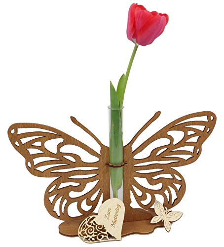 Creative Knots - Table decoration / Butterfly with Filigree pattern and a test tube as miniskirt