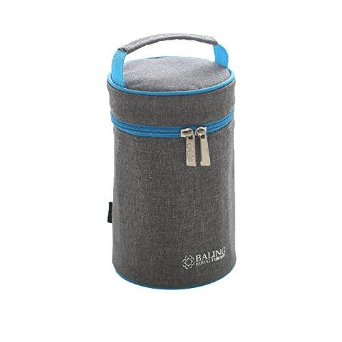 Yvonnelee borsa termica portatile a tenuta stagna isolamento termico borsa frigo per biberon borsa pranzo con tracolla staccabile