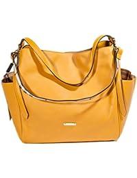 BURBERRY - Bolso de tela para mujer amarillo amarillo