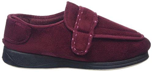Padders Damen Enfold Velcro Schuhe Rot (Burgundy Textile)