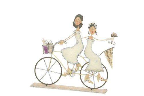 Jullar BIS 1291 Tortenfigur Paar- zwei Frauen auf Fahrrad