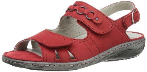 Waldläufer Garda 210004 Ama191 222 Damen Sandalen Rot (Denver rosso)