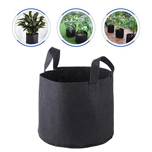 CaaWoo Pot a Plantes de Jardin Lot de 5 Pièces Sacs à Plantes en Géotextile pour Tout Type de Plantations