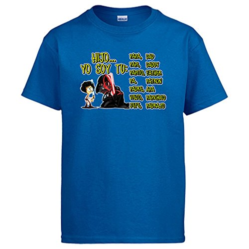Diver Camisetas Camiseta Hijo yo Soy tu Padre - Azul, 3-4 años