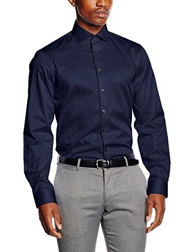 Calvin Klein Rome Fitted Fec, Camicia Uomo, Blu (Nave 411), 41