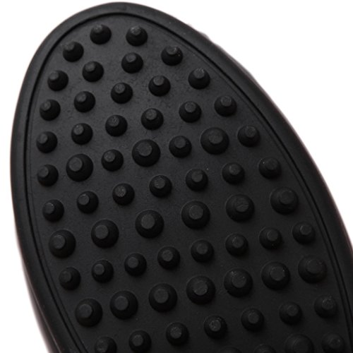 Fortuning's JDS Weiche Sohlen Bowknot metallic beiläufige flache Schuhe Bean Schwarz
