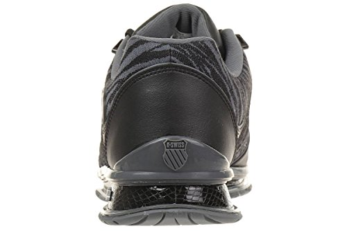 Hommes K-Swiss Rinzler SPT Limited Edition Baskets Tigre Style imprimé Chaussure Cuir Noir