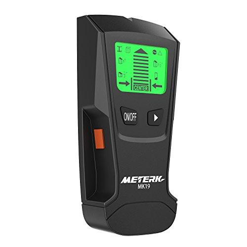 Lcd-stud-wand (Ortungsgerät Meterk Stud Sensor Stud Finder Holz Studs Center Finder Multi-Wand-Detektor für Metall, AC Live-Draht, Holzfinder mit Warnungserkennung mit großem LCD-Display)