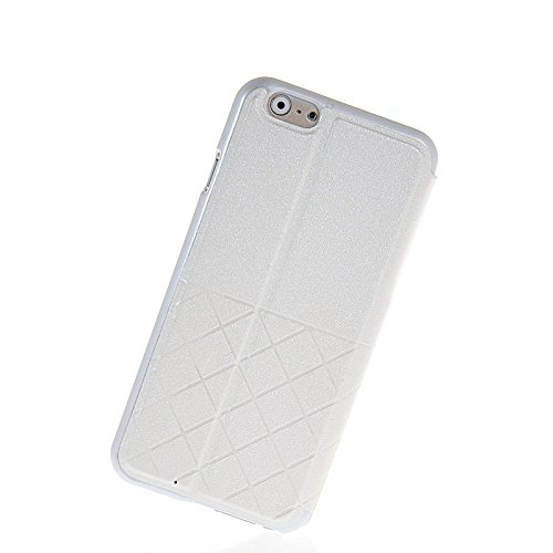MOONCASE Etui Housse Cuir Portefeuille Case Cover Pour Apple iPhone 6 Doré Blanc 01