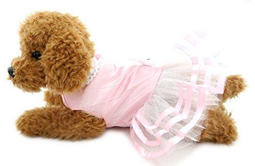 in Schleife Kleiner Hund Katze Tutu Kleid Rock Hochzeit Party Pet Puppy Sundress Mesh Chihuahua Kleidung Bekleidung (Pudel-rock Für Hunde)