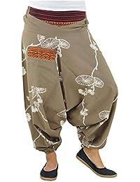 67bc6aa1d248 virblatt Pantaloni alla Turca Donna Pantaloni Etnici Larghi Donna Harem  Pants Yoga - Halluzination