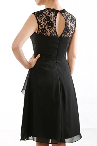 MACloth Women Short Bridesmaid Dress Lace Straps Wedding Party Cocktail Gown Teal