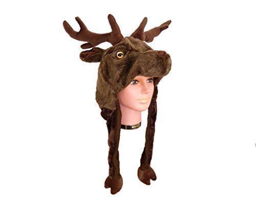 Für Kostüme Hirsch Erwachsene (Tiermütze Plüsch Mütze)