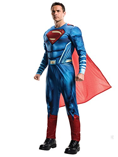 DC Comics Superman Dawn of Justice Kostüm Lizenzware blau rot (Kostüm Superman Comic)