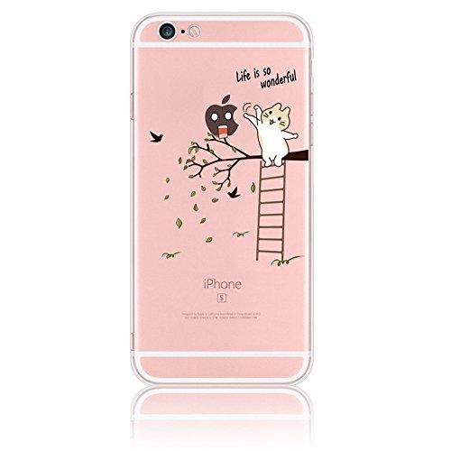 Sunroyal iPhone 4S/4 Kreativ Logo Hülle Case Transparent Handyhülle Schutzhülle Durchsichtig TPU Crystal Clear Case Backcover Bumper Slimcase Bildserie Weich Silikon Schutzhülle Anti- Stoß,Angel Muste Pattern 11
