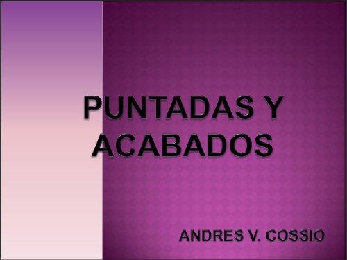 PUNTADAS Y ACABADOS
