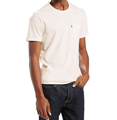 Levi's Herren T-Shirt SS Sunset Pocket Tee Weiß (20 Whitesmoke X 4)