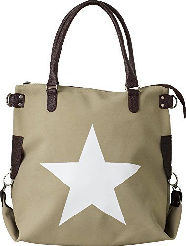 Bags4Less - F3151, Borsa a tracolla Donna Velours-Taupe