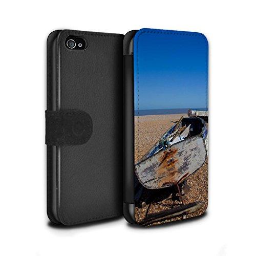 Stuff4 Coque/Etui/Housse Cuir PU Case/Cover pour Apple iPhone 4/4S / Bateau Ancré Design / Côte de la Colombie Collection Vieux Bateau