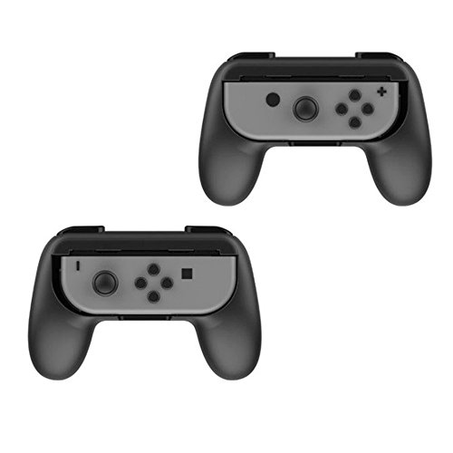 2 Pack Nintendo Switch Grip Kits [Wear-Resistant] Joy-Con Grips Thumb Grips Handle Protect Case (Black) by YONTEX