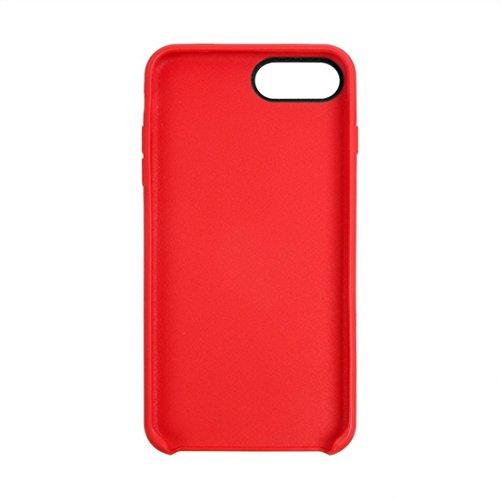 iPhone Case Cover Pour iPhone 7 Plus Classique Surface Douce Soft TPU Étui de Protection ( Color : Dark blue ) Red