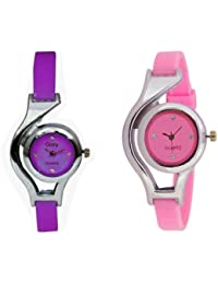 Talgo New 2017 Special Collection World Cup Pink And Purple Colored Round Dial PU Strep Wrist Watch (Combo Of...