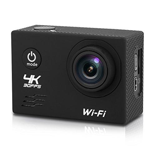 V60 - CAMARA DEPORTIVA DE ACCION 170 ° GRAN ANGULAR (FULL HD LCD 2 0  4K  16MP  H 264  IMPERMEABLE 30M  WIFI USB HDMI  H 264  BALANCE DE BLANCOS) (NEGRO)
