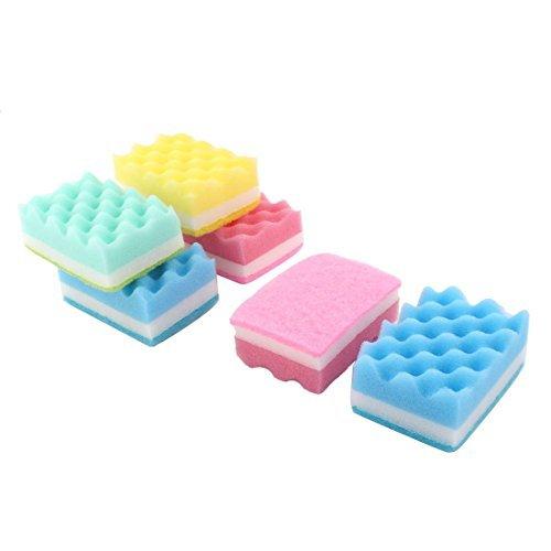 sourcingmapr-sponge-household-rectangle-design-bowl-dish-wash-cleaning-scrub-pad-6pcs