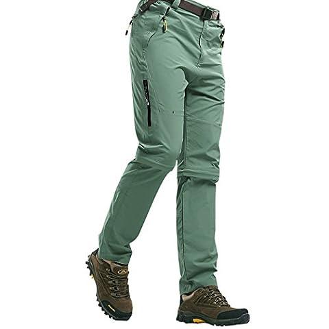 Walk-Leader Pantalon d'extérieur convertible pour homme Escalade, randonnée Séchage rapide