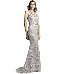 Sarahbridal Evening Gowns for Women Long Mermaid Prom Dresses Elegant Party Ball Beaded with Sequins for