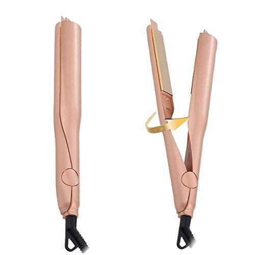 in 1 Keramik Professional Haarglätter und Lockenwickler Lockenstab Wet & Dry Flat Iron Hair Styler mit Dual-Spannung (Flat Iron Gel)