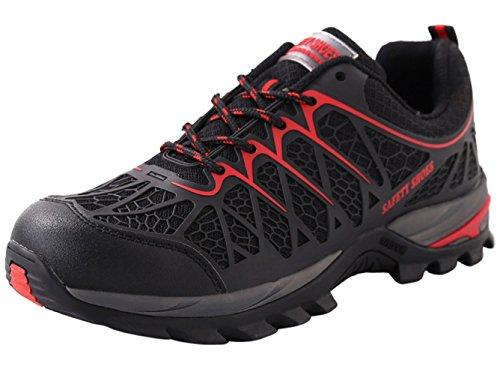 Scarpa Uomo da Lavoro Antinfortunistiche Acciaio Sportive Scarpe Sneaker Ginnastica Trekking Estive Nero 43 EU