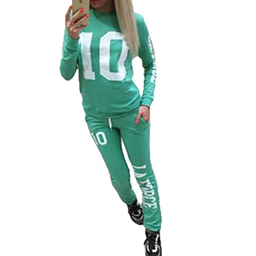 Inlefen Women Tracksuit Jogging Suit Soft Comfortable Long Sleeve Pullover Pants 2 Piece Clothes Set Sport Sweatshirt Trousers Fitness Yoga Suits 4 Colors