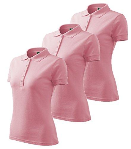 Dress-O-Mat -  Polo  - Basic - Maniche corte  - Donna Rosa