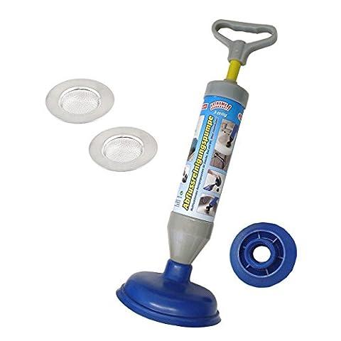 Lantelme 5807 Multifunktionale Reinigungspumpe und Abflußsiebe im Set. Die Umweltfreundliche